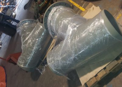20 inch butt weld Y-strainer for delivery
