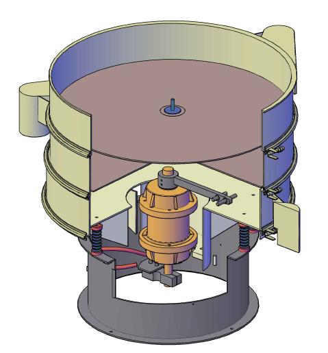 Circular Vibratory Separator 3D Diagram