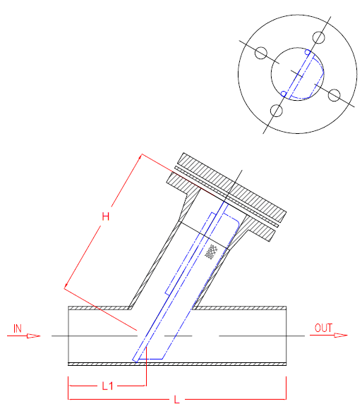 Fabricated Type Y-Strainer